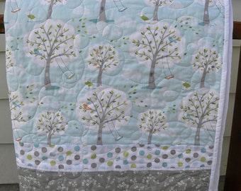 Baby quilt, Michael Miller, Backyard Baby, bedding