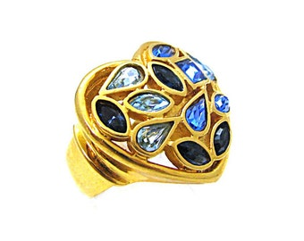 YVES ST LAURENT, ring plate gold of the 1980s