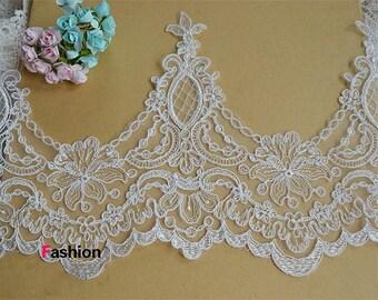 Alencon Lace Trim, Ivory Alencon Lace Trim, Bridal Wedding Veil Lace