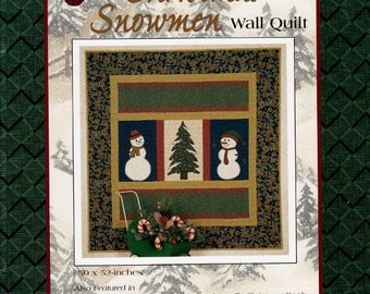 CHRISTMAS SNOWMEN Wall Quilt  - Full Size Applique Pieces     A Thimbleberries Design