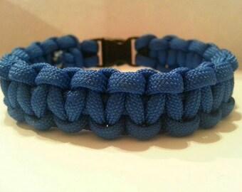 Large Royal Blue Paracord Bracelet