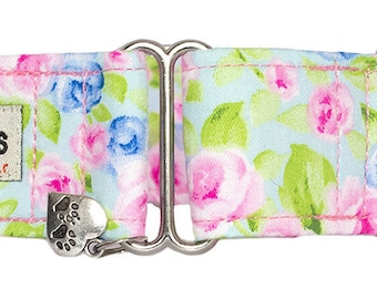 "Noddy & Sweets Adjustable Martingale Collar [1"", 1.5"", 2"" Peony]"