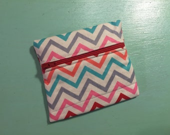 Brights Chevron Zipper Pouch
