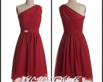 wine red bridesmaid dress,red bridesmaid dresses,red wedding dresses for bridesmaid,wine red prom dresses,short red bridesmaid dress
