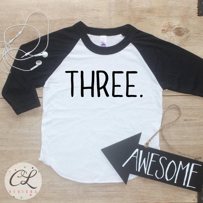 Birthday Boy Shirt Baby Clothes 3 Year Old Outfit Third TShirt 3rd Party Three Raglan Toddler 029