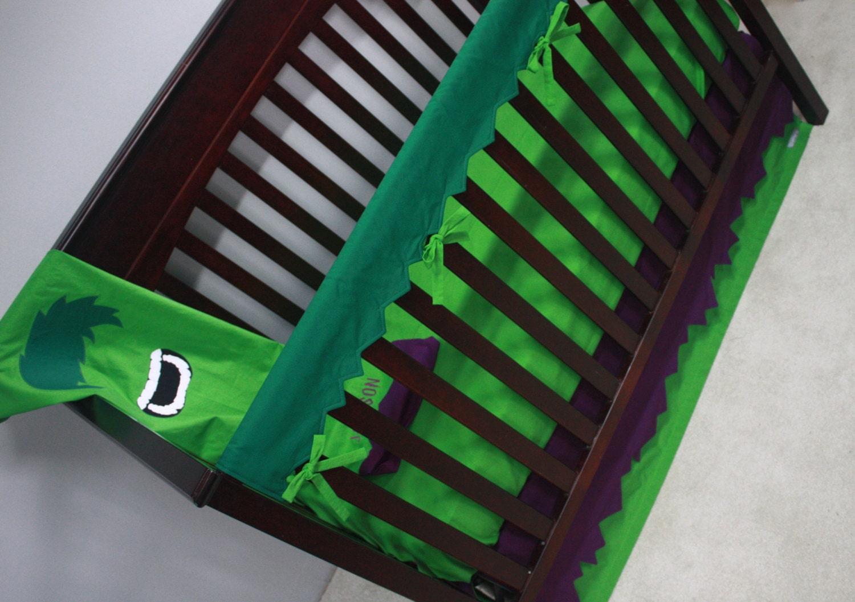 marvel avengers baby bedding--the hulk--custom crib bedding 2-mto