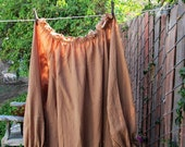 Renaissance Chemise Blouse Tan Cotton Gauze Tunic Womens XLg - 2X Ready now!