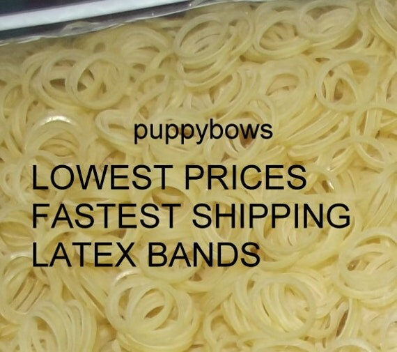 Puppy Bows ~ Latex Dog Grooming Bands ~ SMALLER QUANTITY bags  elastic dog bows bow TOPKNOT band ~Usa seller