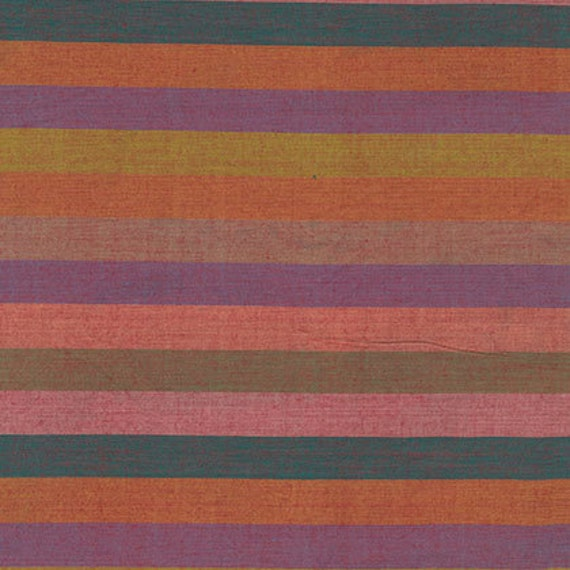BROAD STRIPE SUNSET  by Kaffe Fassett fabric sold in 1/2 yard increments