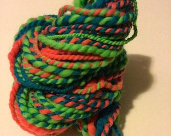 Handspun yarn - think and thin art yarn - art yarn - bulky yarn - yarn - handspun yarn