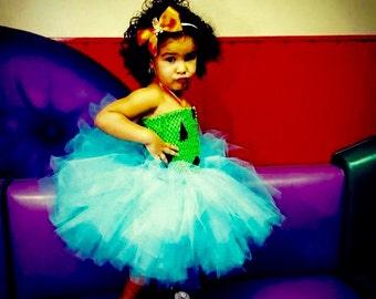 Pebbles Tutu Dress, Turquoise Tutu Dress, Blue Tutu Dress, Spring Tutu Dress