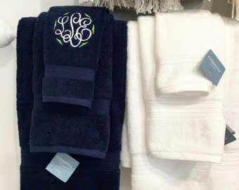 Bath Hand Towel with Monogram