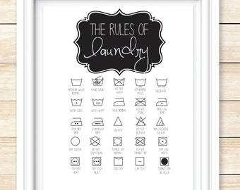 Rules of Laundry Printable