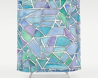 Artistic Shower Curtain Ocean Shower curtain Distant