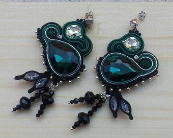Deep Green Earrings