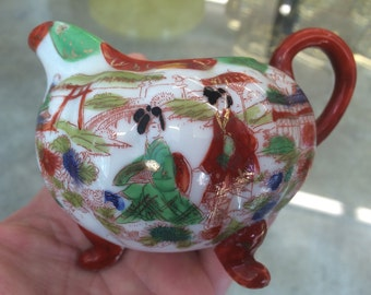 Beatiful Hand Painted Asian Porcelain Creamer