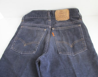 70s 80s Levi Strauss Corduroy Jeans Levis 25 x 29  25 x 21 Levi Strauss & Co Youth Jeans Corduroy Levis Orange tag