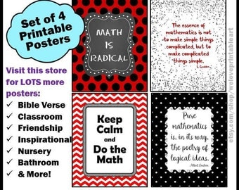 Math Teacher Gift, Printable Posters, Math Teacher Sign, Math Classroom Decor, Math Gift, Math Poster, Back to School, Classroom Decor
