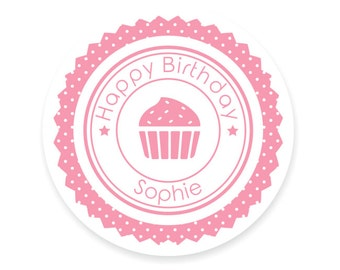 Custom Round Stickers for Birthday Party/ Favours/ Gifts/ Event/ Announcement