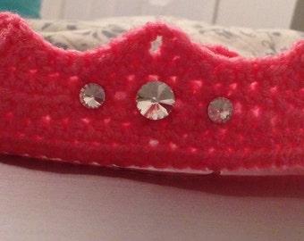 Crochet Newborn Princess Crown