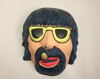 Vintage Hippie/Retro Halloween Mask. Groucho Marx.