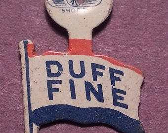 1950 Flag-Shaped Political Campaign Tab U.S. Sen. James Duff (Pa.) & Gov. John Fine (Pa.)