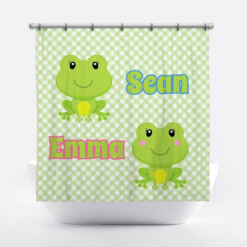 rideau de douche personnalis de grenouille pour enfants. Black Bedroom Furniture Sets. Home Design Ideas