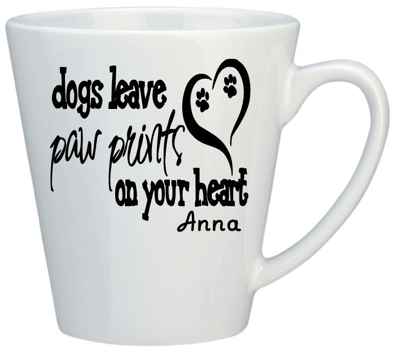 Personalized mugs coffee mugs personalized dog lovers for Coffee mug craft kit