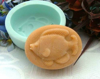 Fish Oval Soap Mold Mould Silicone Mold Flexible Mold Cake Mold Candle Mold