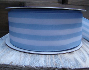 Light Blue and White Striped Ribbon