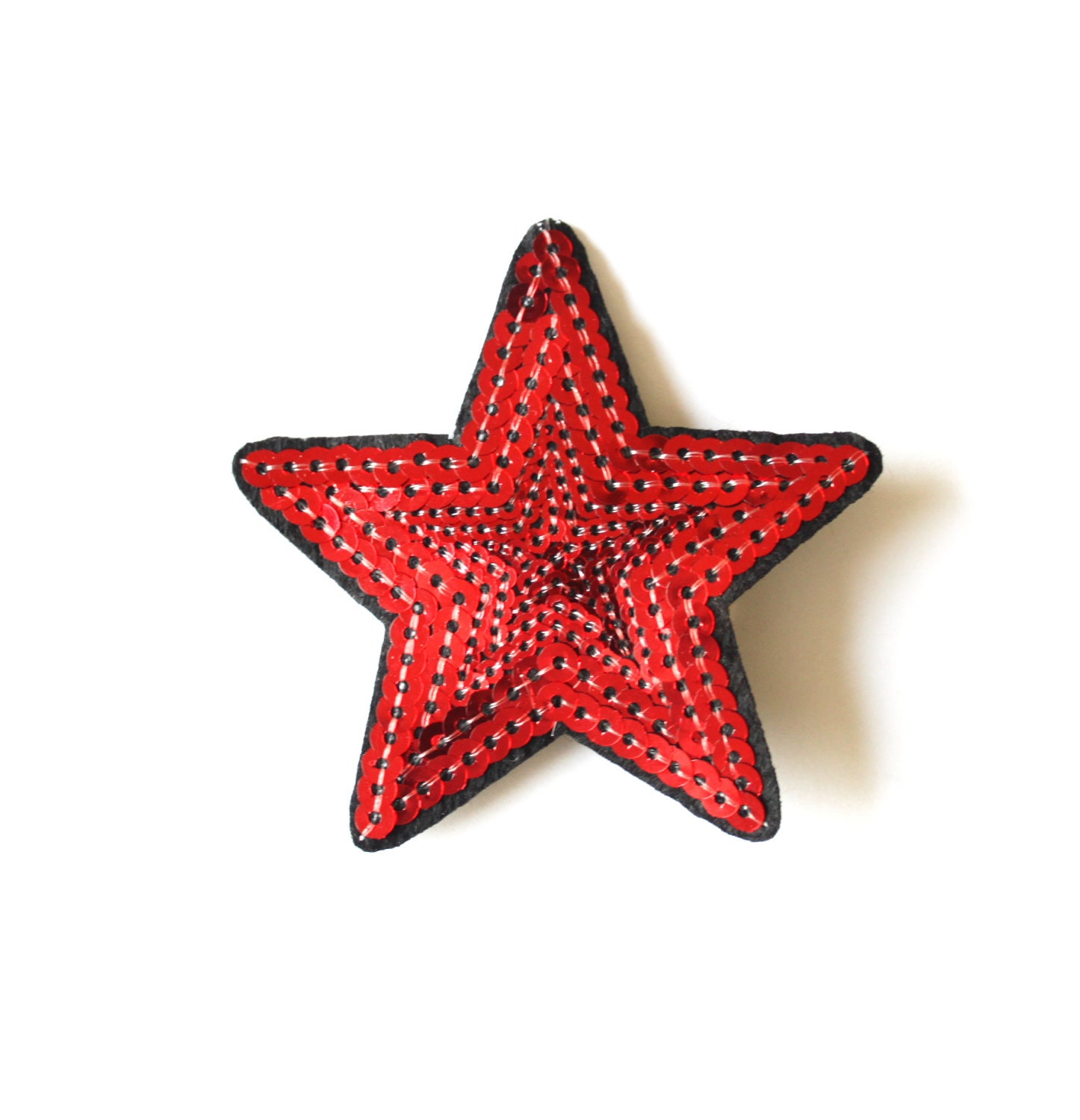 Red sequin hair clip red Sparkly star red star hair clip