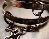 BDSM submissive handcuff bracelets -  hematite finish bangles light bondage sex toy restraints slave jewelry kinky fetish jewellery