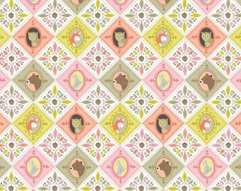 Born Wild Patchwork in Pink by Ana Davis for Blend Fabrics - 1/2 Yard