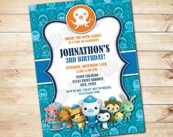 Personalized Octonauts Invitation - Digital File or Printed Copies - Printable - Invitation - Octonauts Invite - 5x7 or 4x6