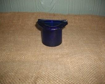 Vintage Blue Hat Ashtray
