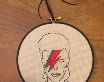 David Bowie Crossstitch