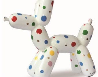 """Statue of resin Dog """"Balloon"""", 7 / 6.3 inches for decoration or collection (18/16 centimeters)"""