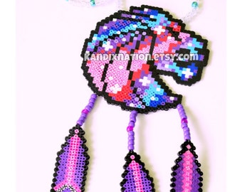 Seven Lions | Perler Necklace with Perler Feathers V2