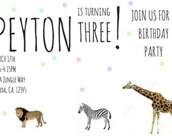 Animal Party Invitation