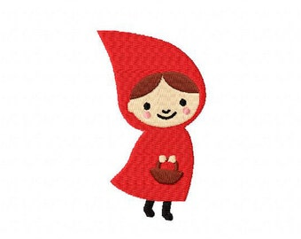 4 X 4 Little Red Riding Hood Machine Embroidery Design Multiple Formats Available - Instant Download