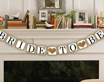 Bridal Shower Banners - Bridal Shower Decor - Bride To Be Banners - Wedding Banner