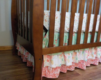 Custom 3 Tiered Ruffled Crib Skirt / Design Your Own / Custom Boutique Baby Bedding