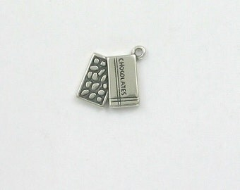 Sterling Silver Box of Chocolates Charm, - fhg213