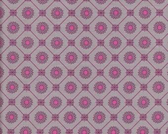 Flower Grid - Grey - Stenzo Poplin