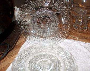 3 Vintage Glass Plates (Price for All)