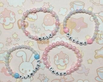 Kawaii  Faux Pearl Bracelet
