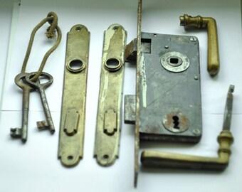 Antique Door Lock, Antique Door Knobs, Vintage Door Key, Old Lock.