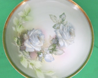White Rose Design Weimar German Plate