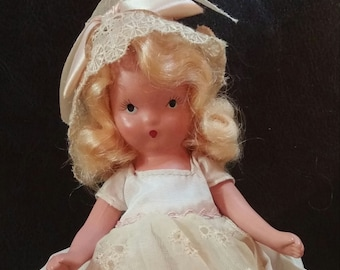 Nancy Ann Storybook Doll 1940s Blonde Bisque Doll Original Clothes 5 Inch