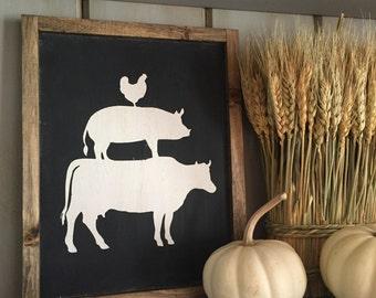 Farm Animal Farmhouse sign